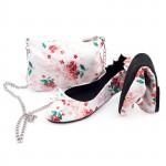 CatMotion dětské skládací baleríny do kabelky MORNING FLOWER