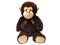Opice plyšová 100 cm s mašlí