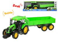 Traktor s vlečkou na setrvačník 70 cm na baterie se světlem 10 zvuků - mix variant či barev