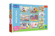 Puzzle 10v1 Prasátko Peppa/ Peppa Pig s přáteli