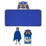 Plážová osuška s kapuckou Tlapková Patrola modrá