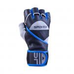 Spokey Gantlet II fitness rukavice vel. M černo-modré