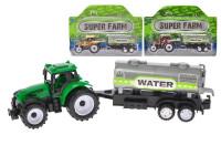 Traktor s vlečkou 21 cm zpětný chod - mix barev