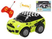R/C auto osobní 11 cm 27 MHz plná funkce na baterie se světlem - mix barev