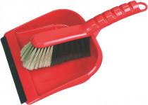 Set lopatka  s gumovou lištou + smetáček (plast)