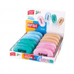 Pryž SPIN mix barev balení 12ks displej