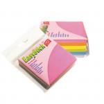 Samolepící bloček - mix 5 barev, 76x76mm, 280 listů