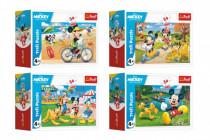 Minipuzzle 54 dílků Mickey Mouse Disney/ Den s přáteli 4 druhy - VÝPRODEJ