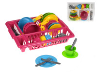 Sada kuchyňského nádobí s odkapávačem - mix barev