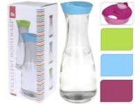 karafa 0,9l skleněná s plastovým víkem - mix barev