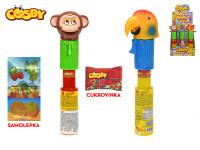 Cosby safari zvířátko 23 cm otvírající ústa s cukrovinkou a samolepkou - 12 ks - mix variant či barev