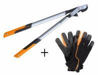 Set FISKARS nůžky na silné větve 1020188 + rukavice 1003477