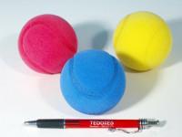 Soft míč na soft tenis pěnový průměr 7cm - mix barev