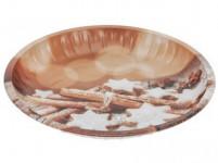 talíř plechový 25,5cm VÁNOČNÍ
