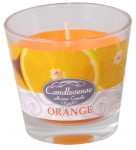 Svíčka sklo - aroma pomeranč 160 g - 4 ks
