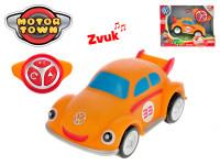 R/C Volkswagen Beetle oranžový 18 cm 2,4 GHz na baterie 4 zvuky