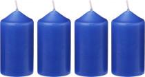 Svíčka adventní 40x75 mm - modrá - 4 ks