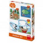 Dino puzzle Zvířátka: Kde žijí 3-5 baby puzzle