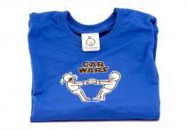 Dětské tričko Mayaka s krátkým rukávem Car Wars - modré