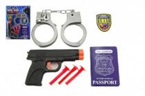 Policejní sada plast pistole na přísavky + pouta a doplňky