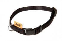 Obojek puppy nylon rozlišovací - černý B&F 1,00 x 20-35 cm