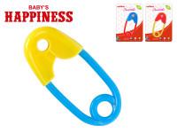 Chrastítko spínací špendlík 12 cm Baby´s Happiness - mix barev