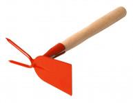 Okopávačka s nás. 27 cm - rovná 2 hroty - oranžová