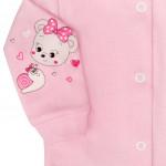 Kojenecký kabátek New Baby myška růžový - 50 - VÝPRODEJ