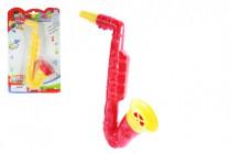 Saxofon plast 23cm - mix barev