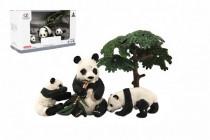 Zvířátka safari ZOO 10cm sada plast 4ks panda 2 druhy