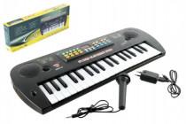 Piánko/Varhany plast s mikrofonem + adaptér 37 kláves 50cm