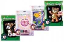 Korálkový obrázek s doplňky na kartě 23x32cm - mix variant či barev