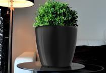 Samozavlažovací květináč GreenSun AQUAS průměr 28 cm, výška 26 cm, černý
