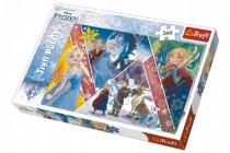 Puzzle Frozen/Ledové království koláž 260 dílků 60x40cm