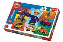 Puzzle Požárník Sam 100 dílků 41x27,5cm