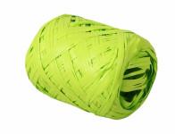 Stuha RAFIA vajíčko zelená šířka 12,5mm délka 20 m