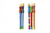 Flétna malovaná dřevo 33cm - mix variant či barev
