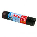 pytle na odpadky zatahovací 35l (15ks) 53x 60cm ČER 15µ ECONOMY