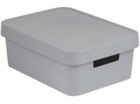 box úložný INFINITY 36,3x27x13,8cm s víkem, plastový, ŠE