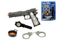 Sada policejní - pistole 20 cm klapací + 3 doplňky