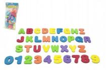 Vodolepky pěnová písmena a číslice do vany