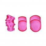 Spokey Buffer 3-dílná sada dětských chráničů, růžové, vel. S