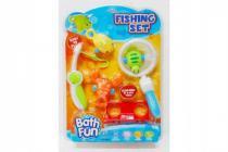 Hra ryby/rybář s doplňky 6ks plast