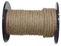 šňůra přírodní 4mm stáčená s PP (100m)
