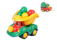 Auto nákladní 34 cm s míčky - mix barev
