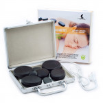 Sada 8 ks masážních lávových kamenů v samonahřívacím kufříku