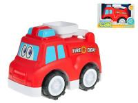 Auto hasičské veselé 25 cm volný chod