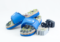 Vyhřívané masážní pantofle s přírodními kameny, modré, CatMotion