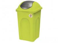 koš odpadkový výklopný PRIMAVERA 60l čtvercový LIM/ŠE plastové víko