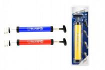 Pumpa na balonky/míče+nástavce 4ks plast 28cm - mix barev